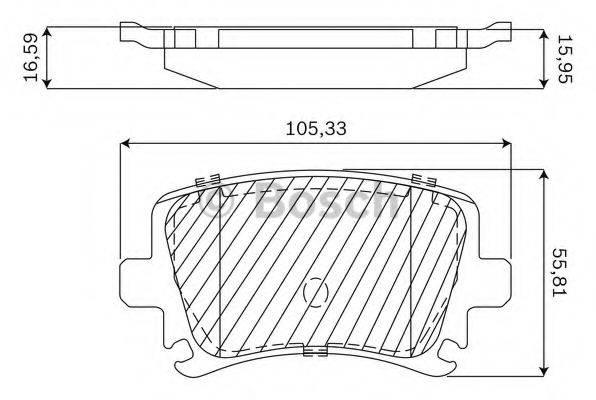 BOSCH F03B050144 Комплект тормозных колодок, дисковый тормоз