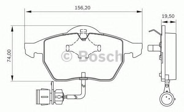 BOSCH 0986BB0320 Комплект тормозных колодок, дисковый тормоз
