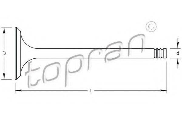 TOPRAN 111597 Впускной клапан