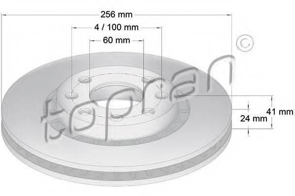 TOPRAN 200932 Тормозной диск