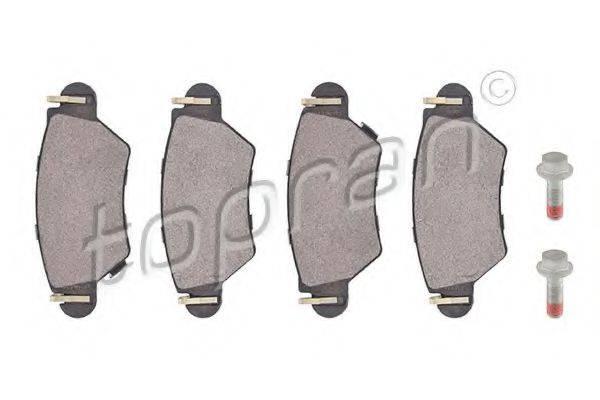 TOPRAN 205946 Комплект тормозных колодок, дисковый тормоз