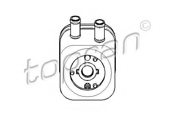 TOPRAN 110495 масляный радиатор, двигательное масло