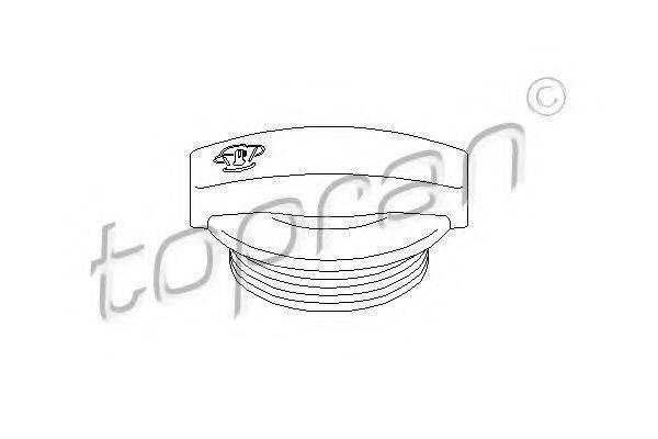 TOPRAN 109345 Крышка, резервуар охлаждающей жидкости