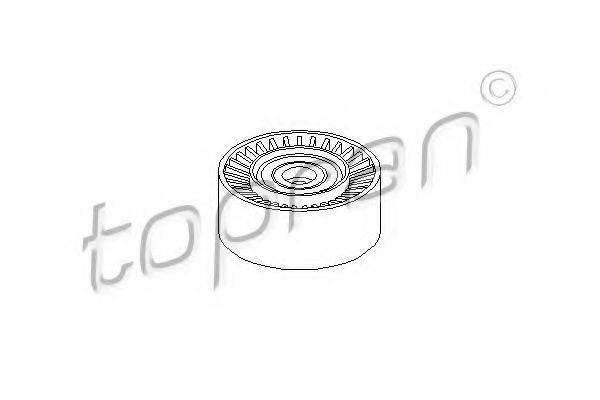 TOPRAN 110059 Паразитный / ведущий ролик, поликлиновой ремень