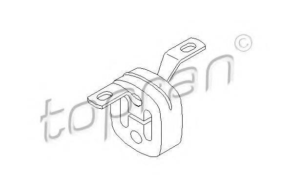 TOPRAN 107224 Кронштейн, глушитель