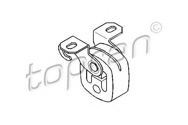 TOPRAN 110138 Кронштейн, глушитель