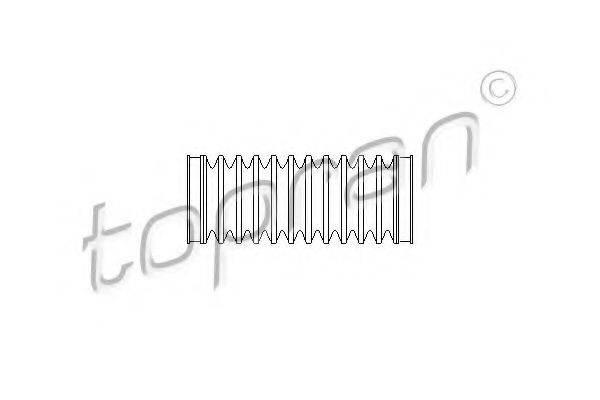 TOPRAN 103781 Пыльник, рулевое управление