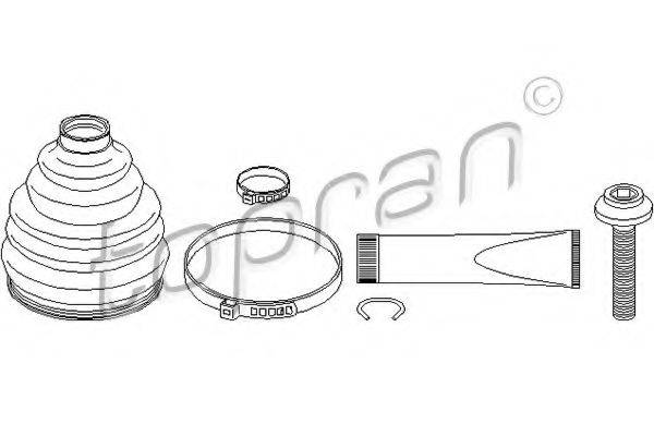 TOPRAN 111683 Комплект пылника, приводной вал