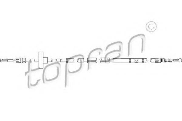 TOPRAN 112153 Трос, тормозной механизм рабочей тормозной системы