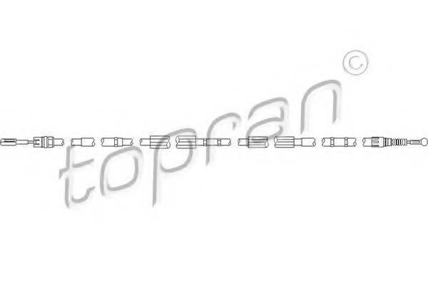 TOPRAN 112155 Трос, тормозной механизм рабочей тормозной системы