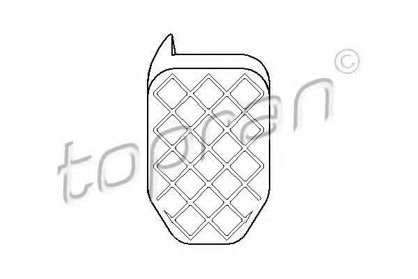 TOPRAN 112313 Накладка на педаль, педаль сцепления