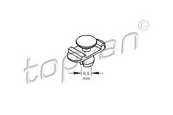 TOPRAN 104169 Пружинный зажим; Зажим, молдинг / защитная накладка