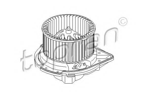 TOPRAN 112106 Электродвигатель, вентиляция салона