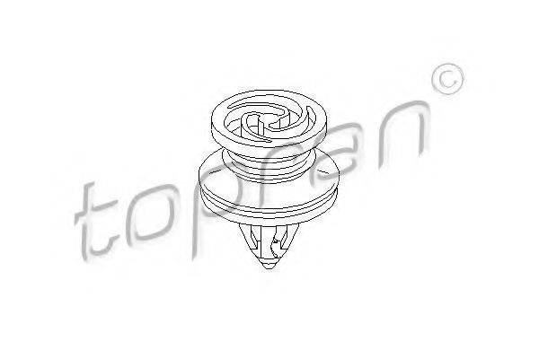 TOPRAN 111108 Зажим, молдинг / защитная накладка