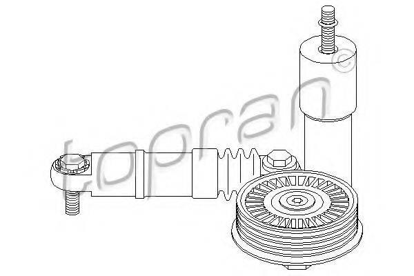 Натяжитель ремня, клиновой зубча TOPRAN 109 150