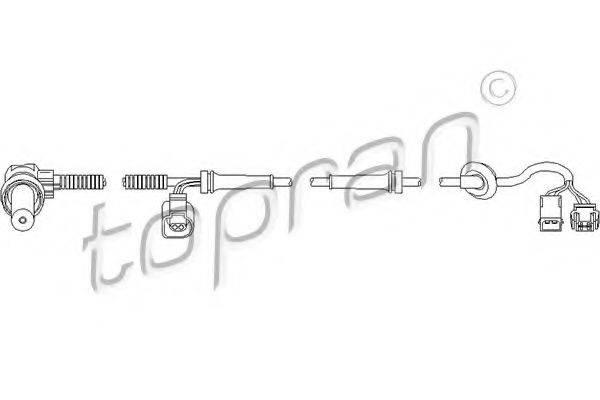 TOPRAN 110482 Датчик, частота вращения колеса