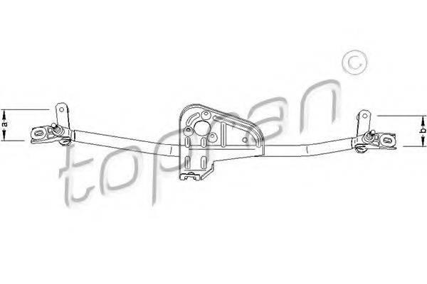 TOPRAN 110696 Система тяг и рычагов привода стеклоочистителя