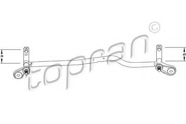 TOPRAN 110697 Система тяг и рычагов привода стеклоочистителя