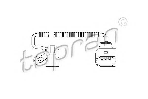 TOPRAN 111392 Датчик частоты вращения, управление двигателем
