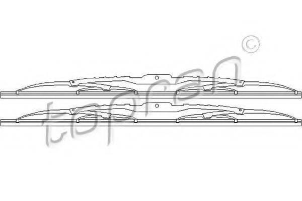 TOPRAN 103631 Щетка стеклоочистителя