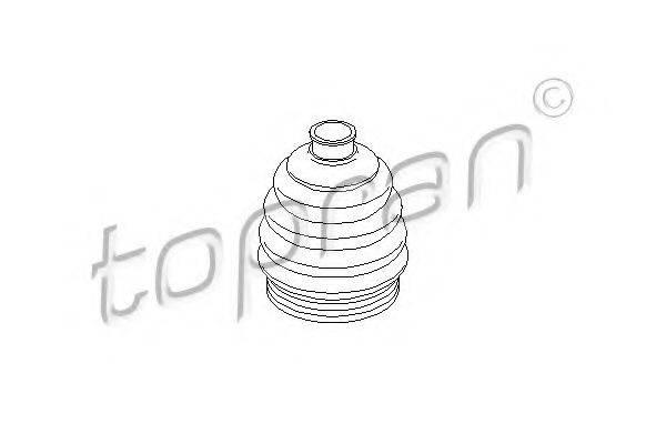 TOPRAN 200534 Пыльник, приводной вал