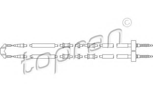 TOPRAN 205508 Трос, стояночная тормозная система