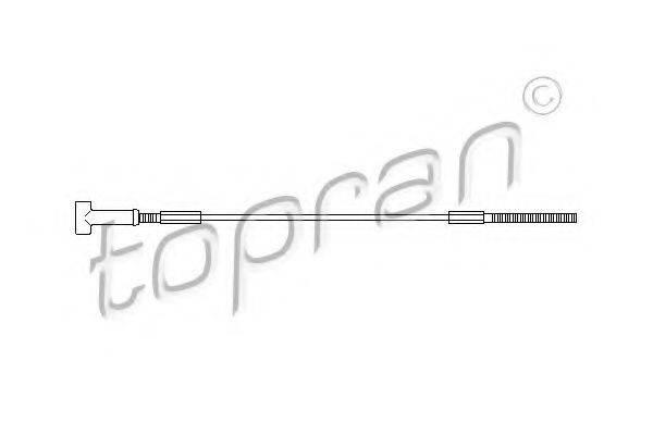 TOPRAN 205504 Трос, стояночная тормозная система