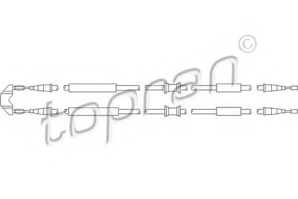 TOPRAN 205507 Трос, стояночная тормозная система