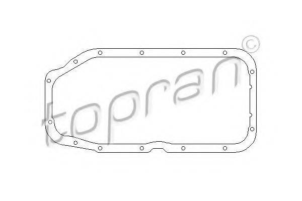 TOPRAN 201313 Прокладка, маслянный поддон