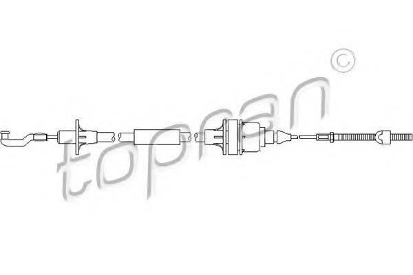 TOPRAN 201344 Трос, управление сцеплением