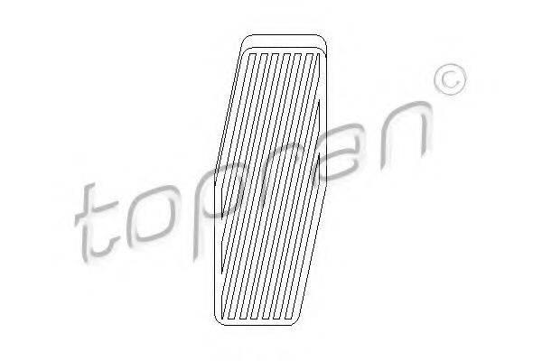 TOPRAN 205638 Накладка на педаль, педаль акселоратора