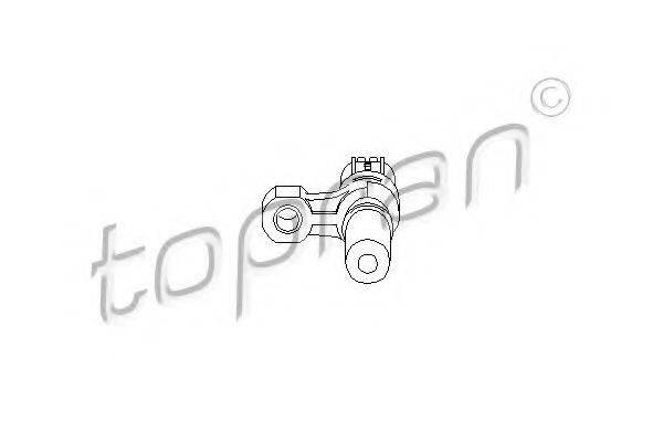 TOPRAN 207410 Датчик частоты вращения, управление двигателем