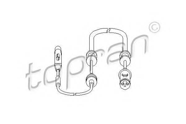 TOPRAN 206697 Датчик, износ тормозных колодок