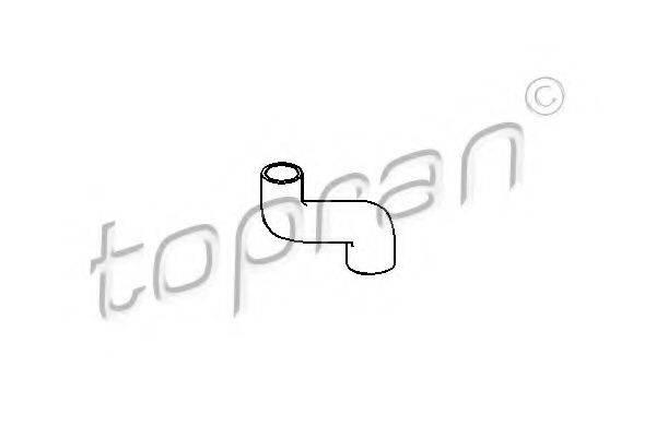 TOPRAN 205721 Шланг радиатора