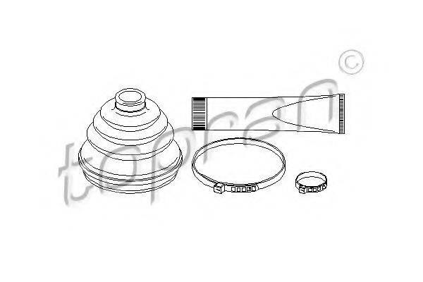 TOPRAN 202424 Комплект пылника, приводной вал