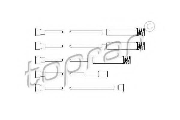 TOPRAN 202511 Комплект проводов зажигания