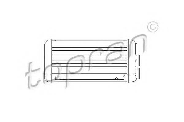 TOPRAN 207468 Теплообменник, отопление салона