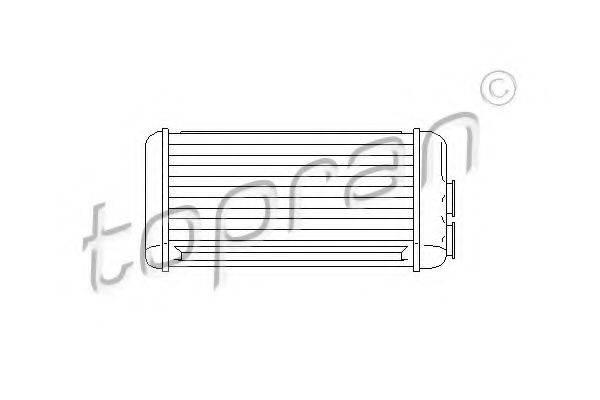 TOPRAN 207123 Теплообменник, отопление салона