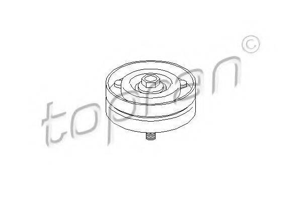TOPRAN 206910 Паразитный / ведущий ролик, поликлиновой ремень