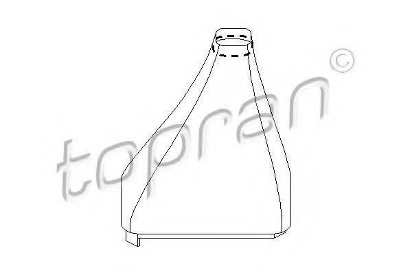 TOPRAN 205861 Обшивка рычага переключения