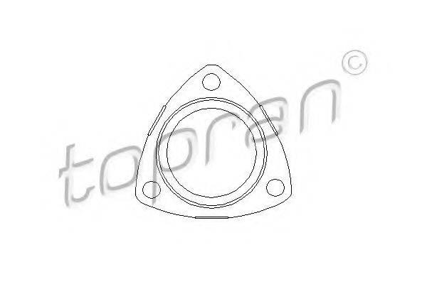 TOPRAN 206192 Прокладка, труба выхлопного газа