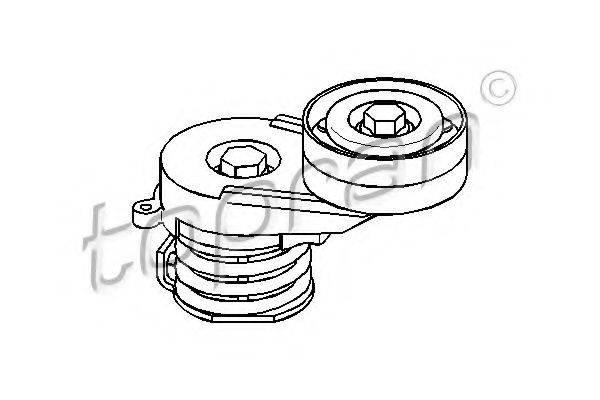 TOPRAN 206901 Натяжной ролик, поликлиновой  ремень