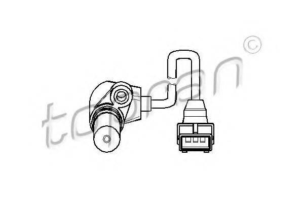 TOPRAN 205887 Датчик частоты вращения, управление двигателем