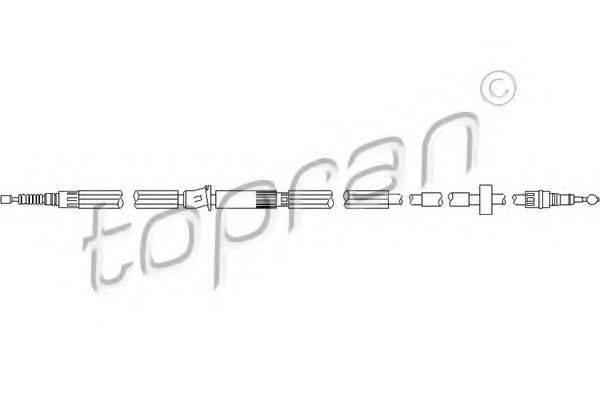 TOPRAN 112152 Трос, тормозной механизм рабочей тормозной системы
