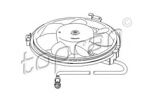 TOPRAN 112105 Вентилятор, охлаждение двигателя