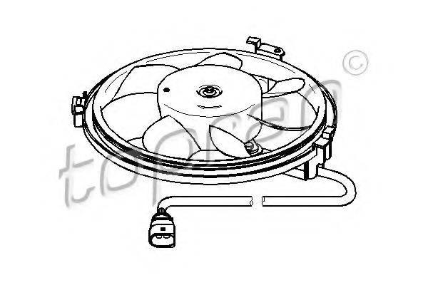 TOPRAN 111439 Вентилятор, охлаждение двигателя