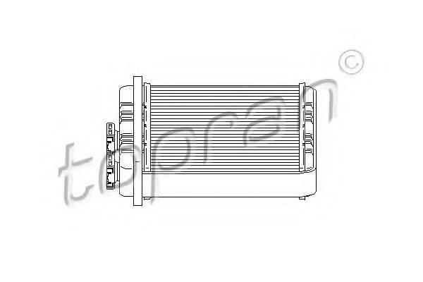 TOPRAN 207988 Теплообменник, отопление салона