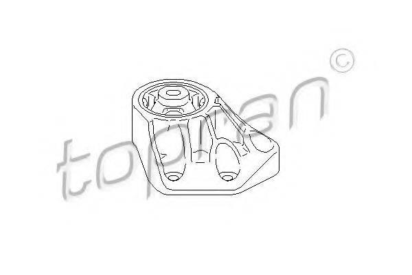 TOPRAN 113370 Подвеска, раздаточная коробка