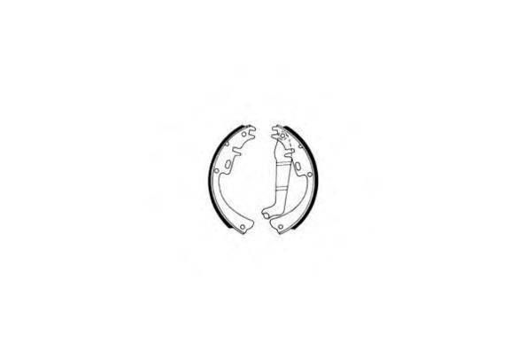 E.T.F. 090096 Комплект тормозных колодок