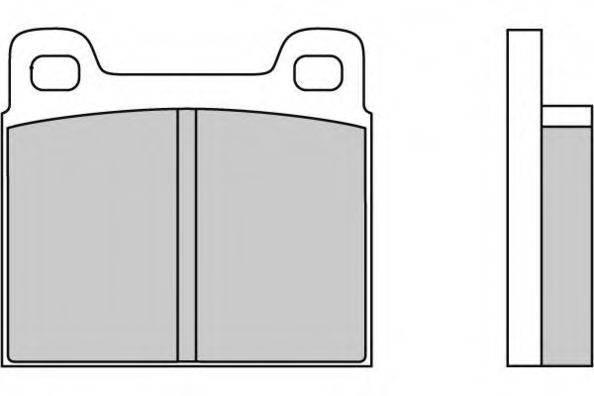 E.T.F. 120036 Комплект тормозных колодок, дисковый тормоз